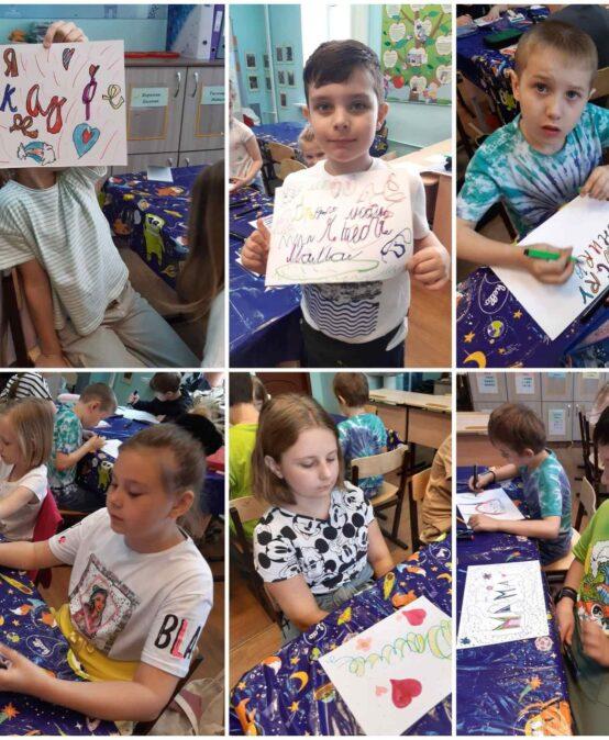 На занятии «Леттеринг и каллиграфия» ребята учились рисовать буквы